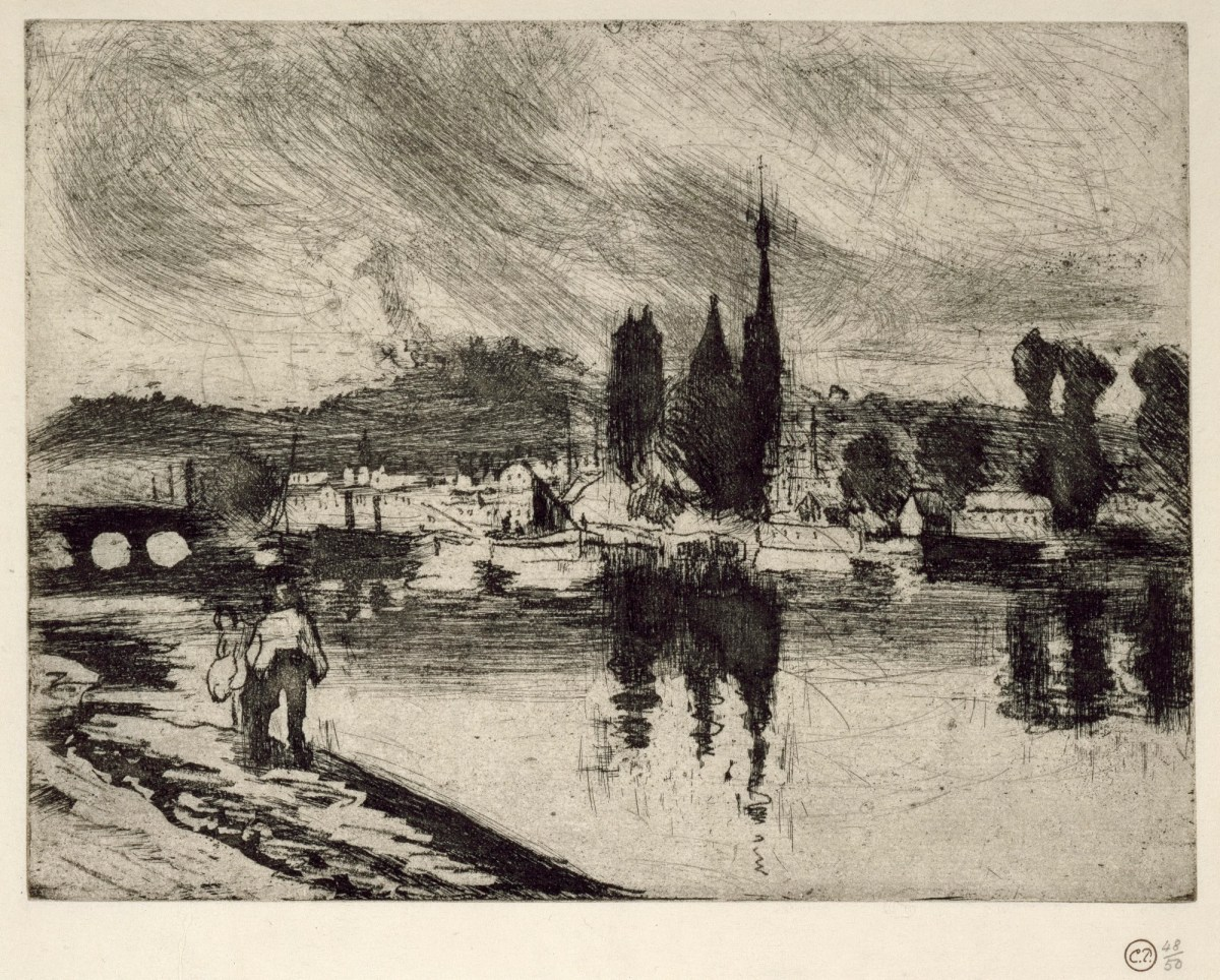 Vue de Rouen (Cours-La-Reine) - Works of Art - RA Collection - Royal Academy of Arts - 웹