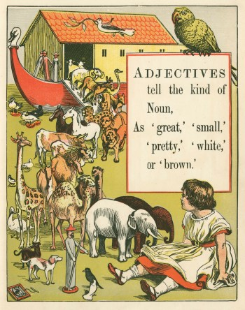Walter Crane, 'Adjectives tell the kind of Noun'