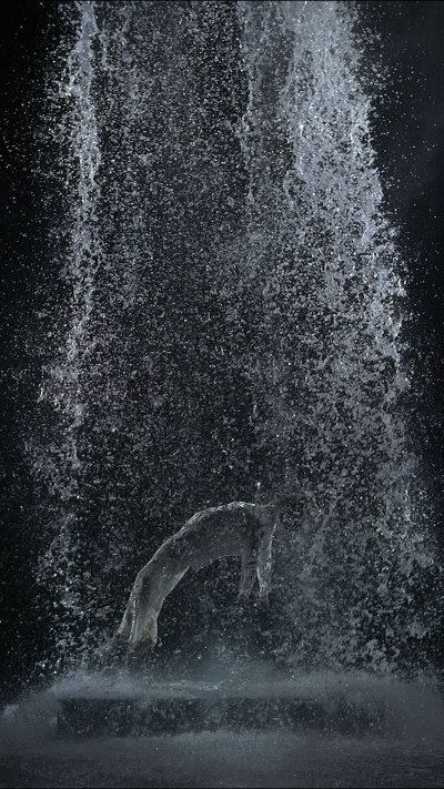 Bill Viola, Tristan's Ascension (The Sound of a Mountain Under a Waterfall)