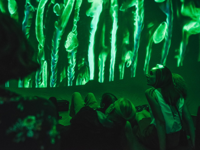 Pop-up planetarium at the RA Lates: Cosmic Ocean