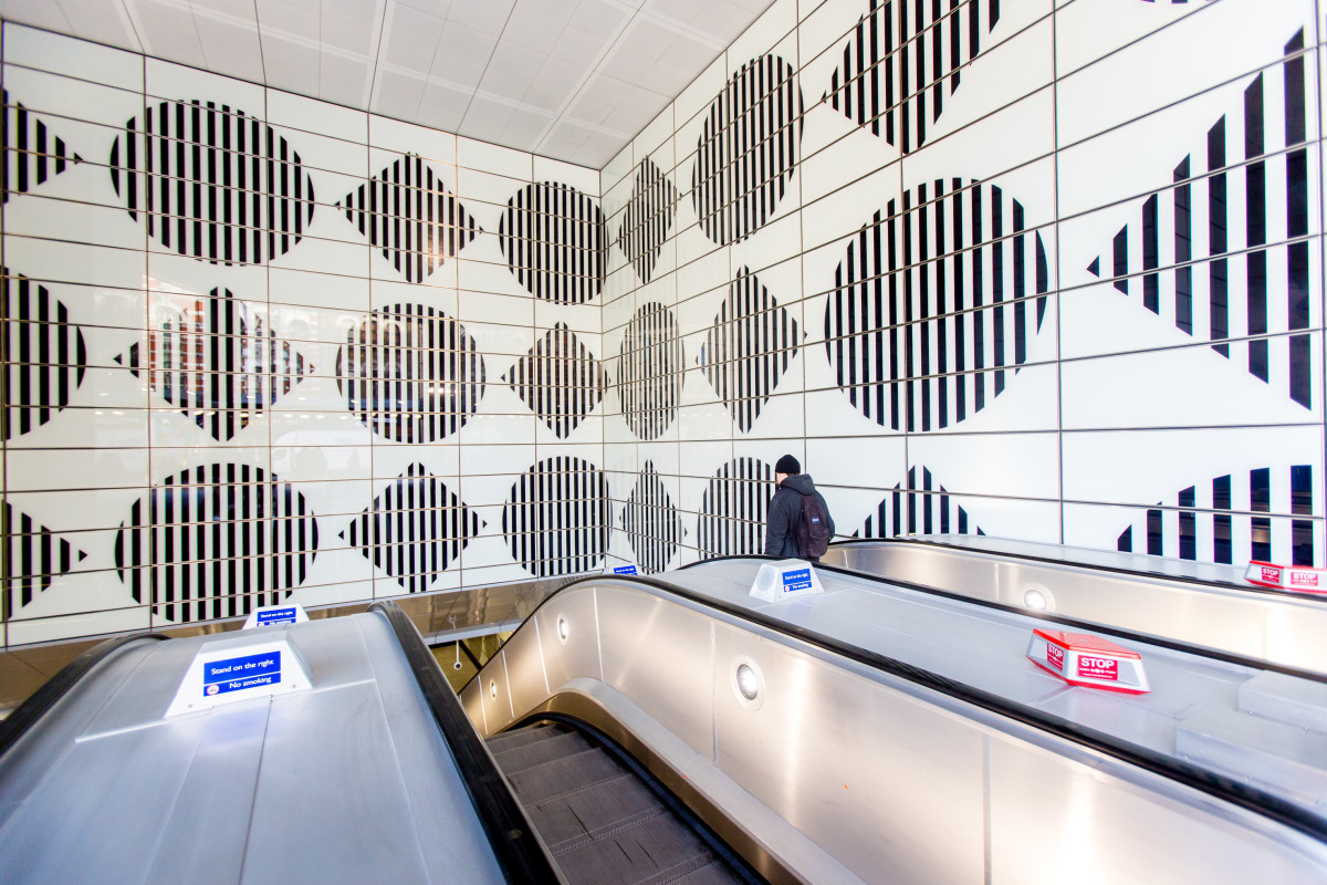Podcast Daniel Buren S New Art Installation At Tottenham Court Road Station Blog Royal Academy Of Arts