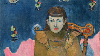 Paul Gauguin, Portrait of a Young Girl (Vaïte 'Jeanne' Goupil) (detail)