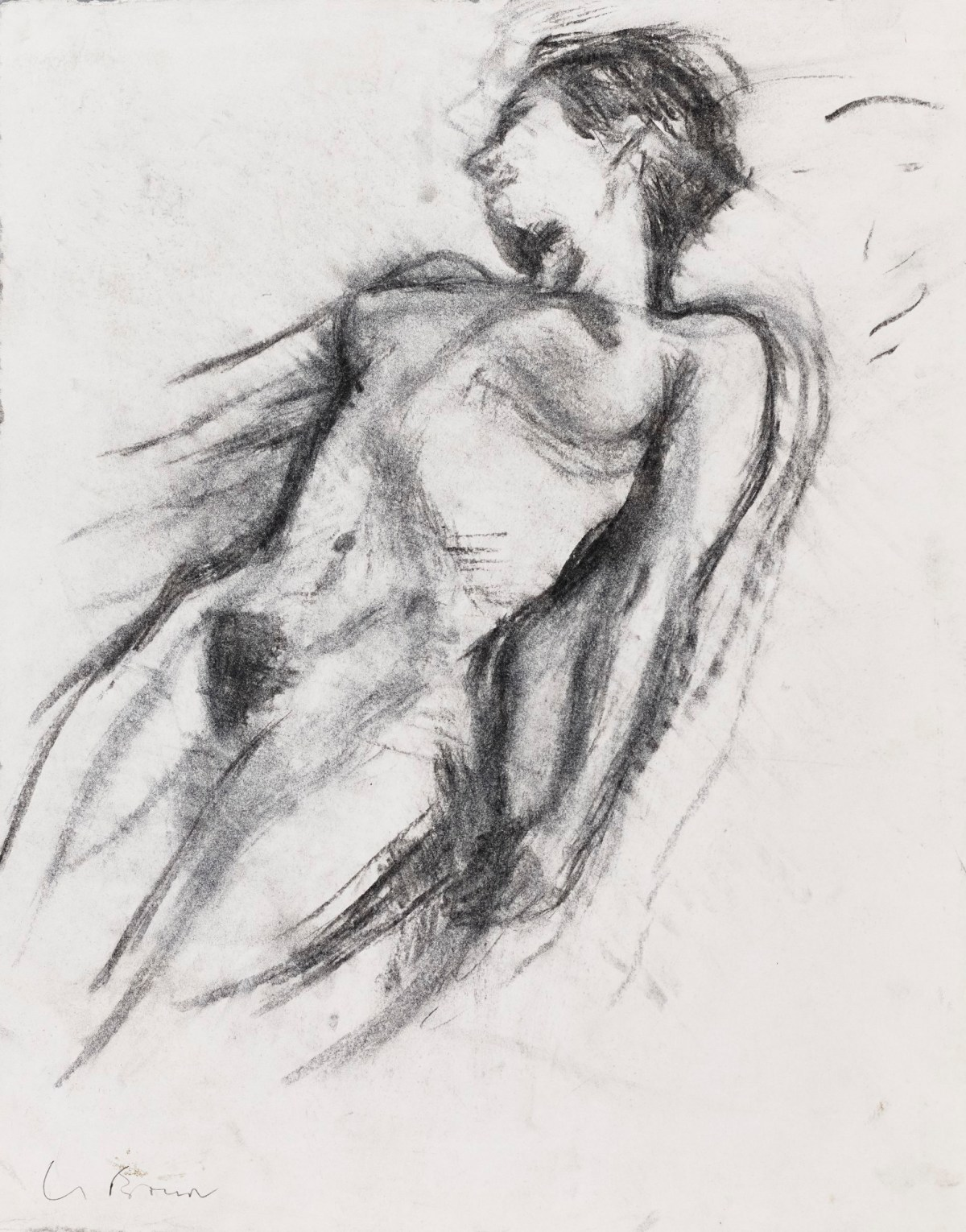 Christopher le brun pra life drawing of a reclining female figure