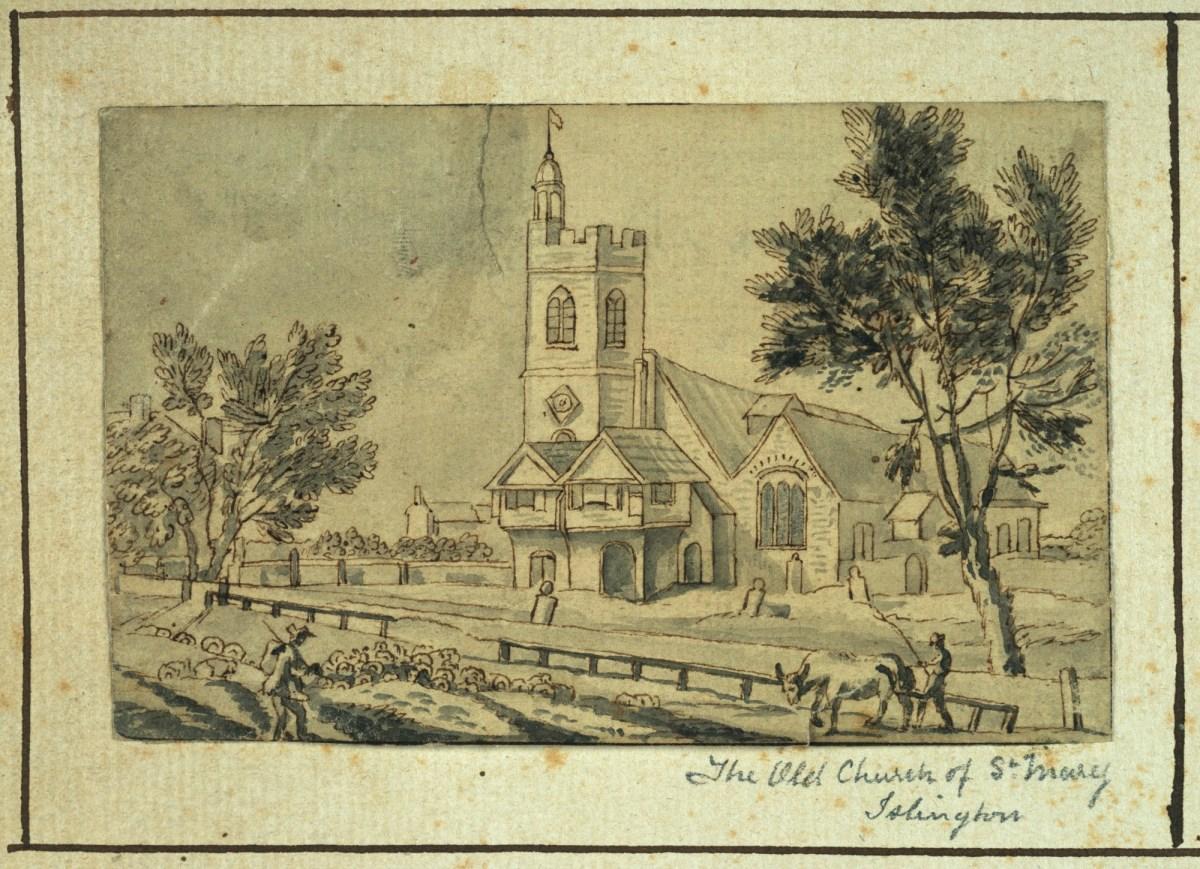 Jean Baptiste Claude Chatelain, Old St. Mary's Church, Islington