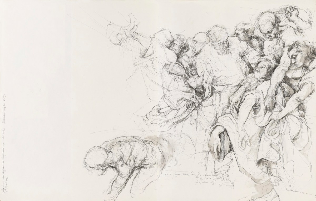 Study after Anthony van Dyck\'s \'The Brazen Serpent\' | Works of Art ...