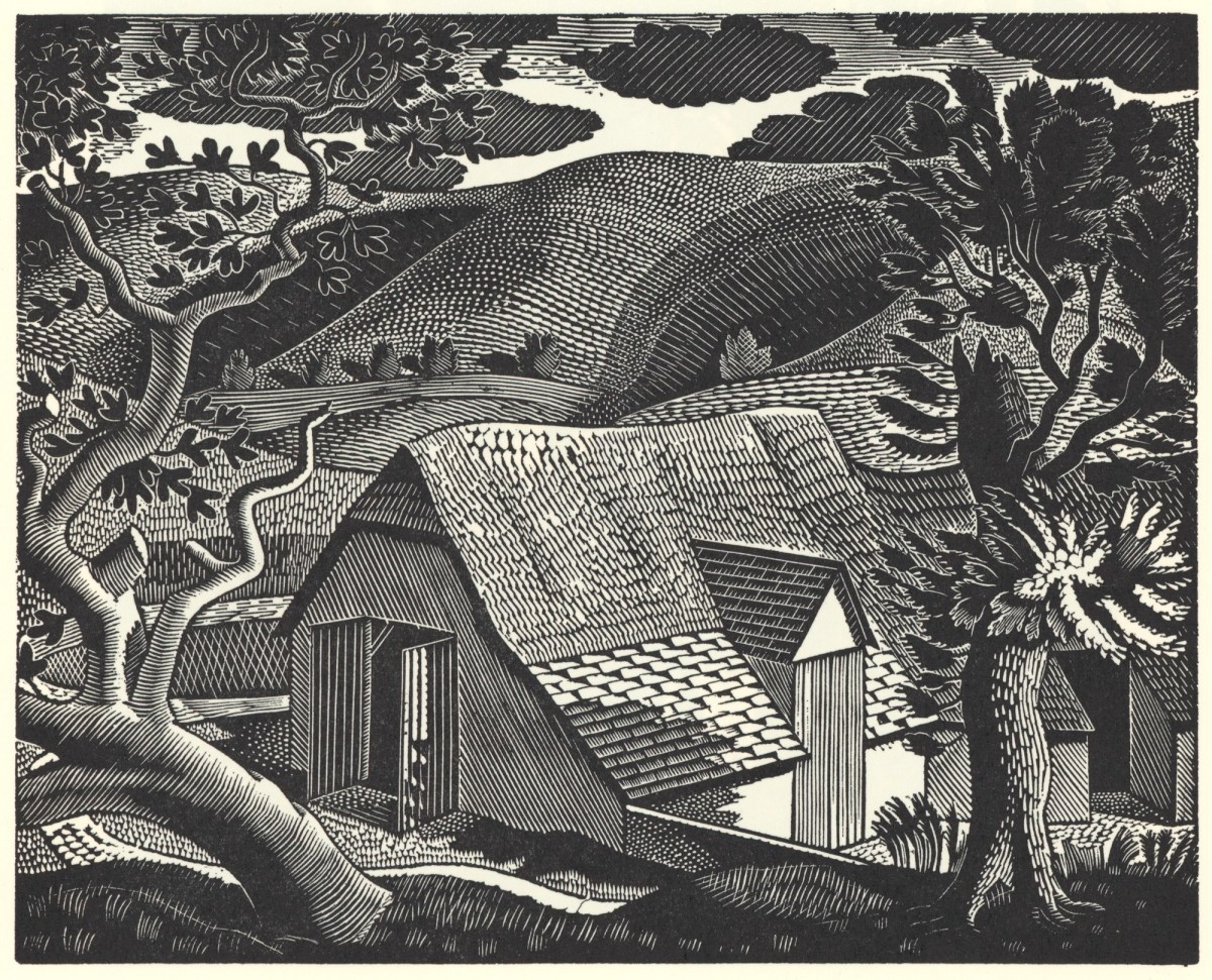 The Gallery Collection Christmas Cards.Wood Engraving For The Redfern Gallery Christmas Card 1933