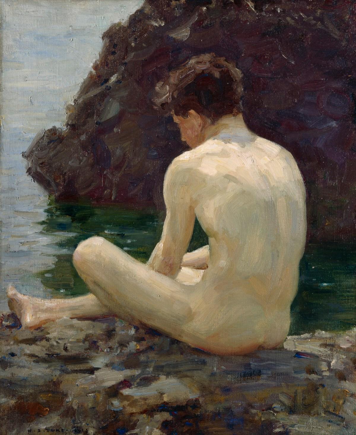 girl-knee-naked-boy-art