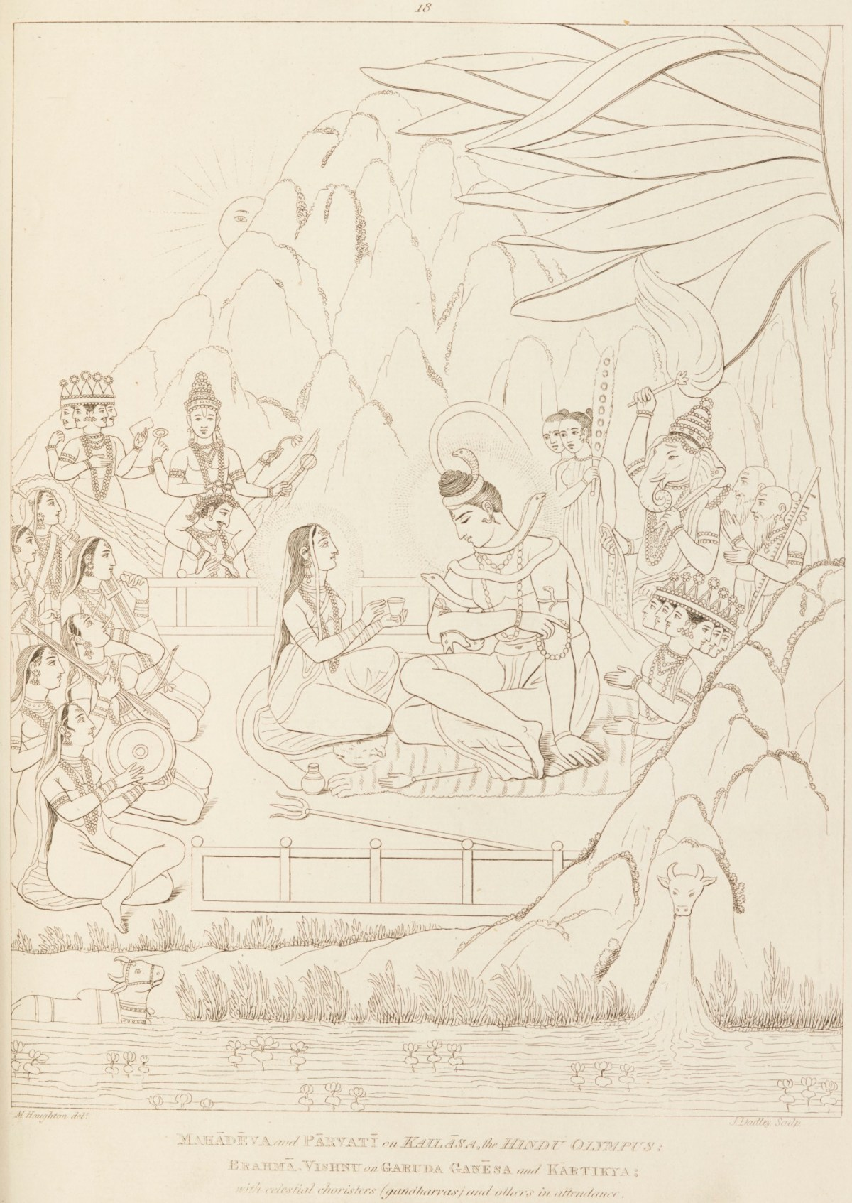 Shiva And Parvati On Mount Kailash Works Of Art Ra Collection Royal Academy Of Arts