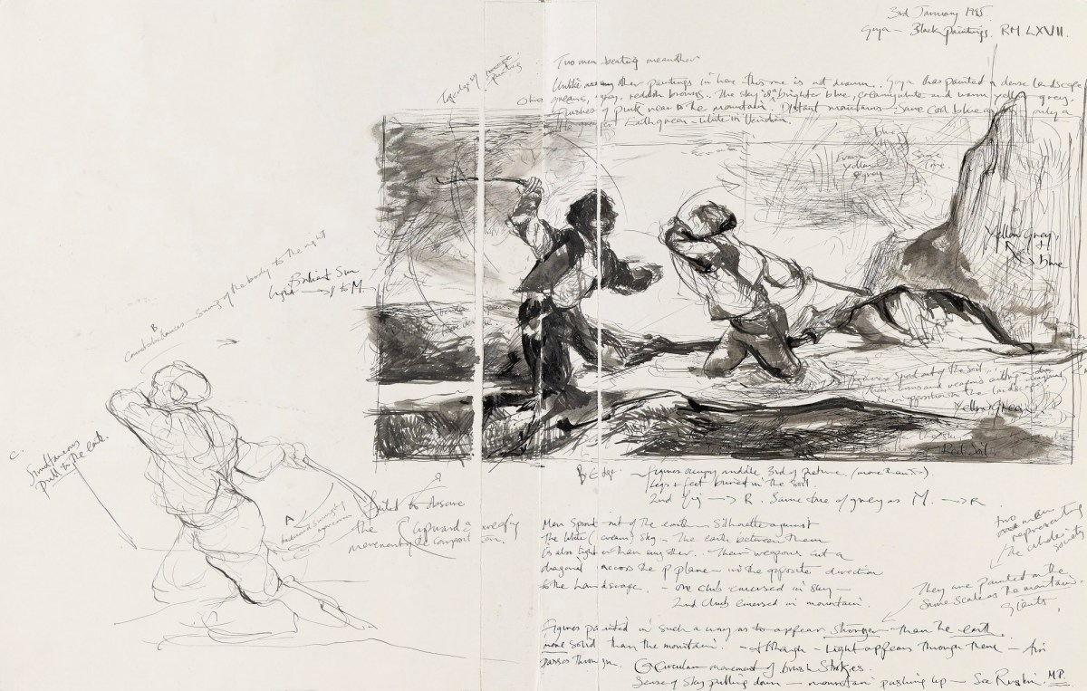 Sketch After Francisco Goyas Duel With Cudgels Works Of Art