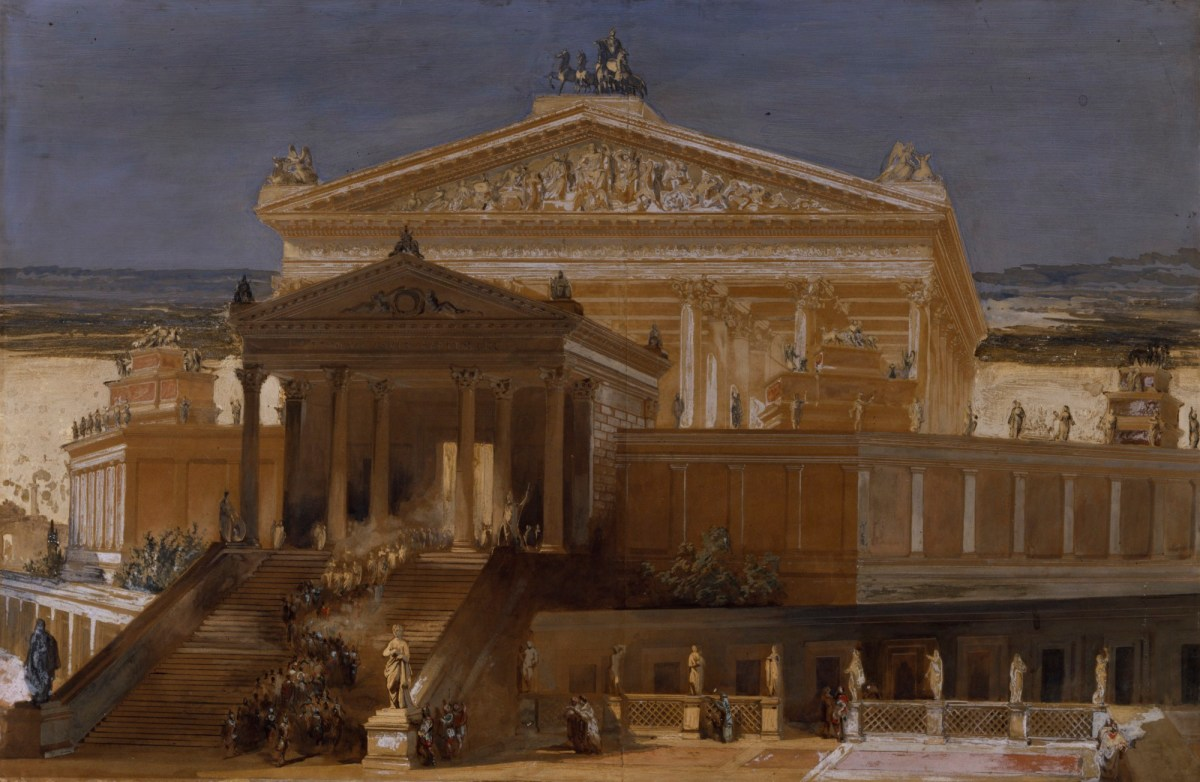 C.R. Cockerell RA, Imaginary view of the Temple of Jupiter Capitolinus, Rome