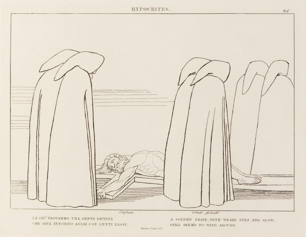 John Flaxman RA, 'Hypocrites' (from The Divine Comedy)