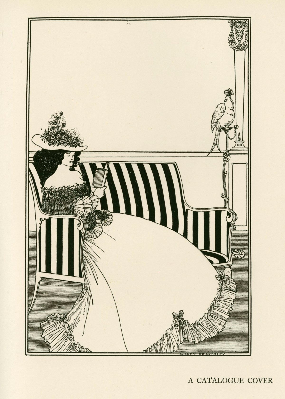 Design for the front wrapper of Leonard Smithers' Catalogue