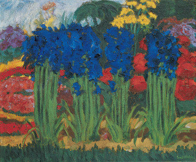 Emil Nolde, Flower Garden (O)