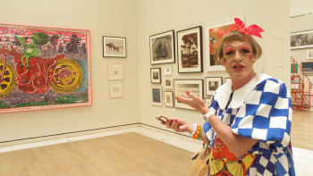 Grayson Perry in The Sackler Wing of Galleries, part of the 250th Summer Exhibition