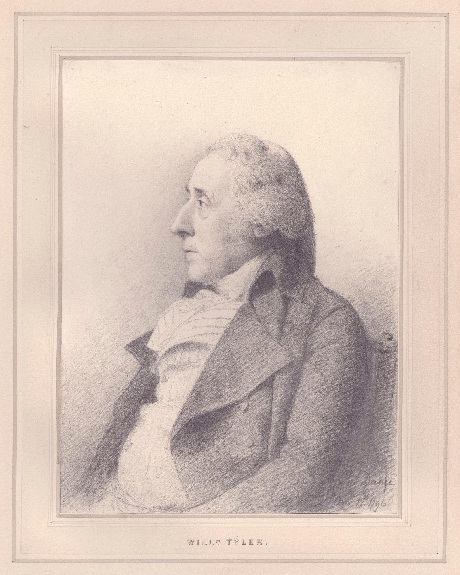 George Dance RA, Portrait of William Tyler, R.A.
