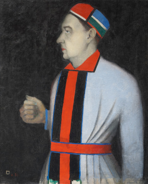 Kazimir Malevich, Portrait of Nikolai Punin