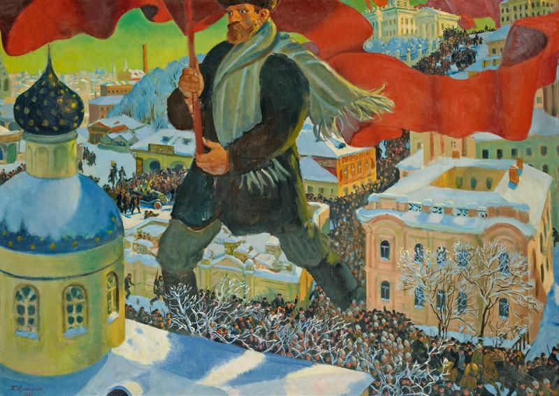 Boris Kustodiev, The Bolshevik