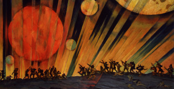 Konstantin Yuon, New Planet (detail)