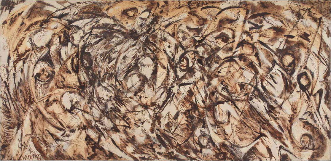 Lee Krasner, The Eye is the First Circle, 1960. Oil on canvas. 235.6 x 487.4 cm. Courtesy Robert Miller Gallery, New York. © ARS, NY and DACS, London 2016 Photo Private collection, courtesy Robert Miller Gallery, New York.